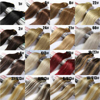 "Hair 100% Human Remy Hair Extensions Full Head 16"" 18"" 22"" 24"" 28""100g"