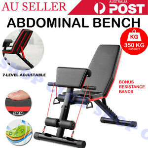 Adjustable Weight Abdominal Bench Sit-up Fitness Flat Gym Exercise Dumbbell Gift