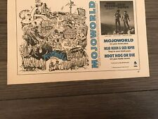 1989 Vintage 6X10 Album Promo Print Ad For Root Hog Or Die Mojo Nixon&Skid Roper