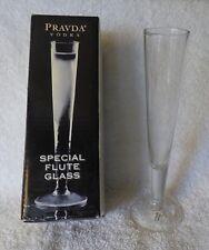 Special Flute Glass for Pravda Frozen Luxury Vodka from Poland NEW in Box