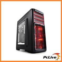 NEW Deepcool Kendomen RD ATX Case Quiet USB 3.0 Red & Black Computer Mid Tower