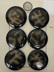 Vintage AW Co. Multicolor Plastic Coat Buttons 6 Buttons