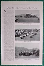 1900 BOER WAR ERA 6th DIVISION THEBUS CAMP MOUNTED INFANTRY TROOPS MESS SHELTER