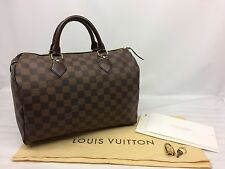 Auth Louis Vuitton Damier Speedy 30 Hand Bag 7E300160m""