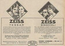 Z0779 Zeiss Tessar - Zeiss Binocoli - Pubblicità del 1925 - Advertising