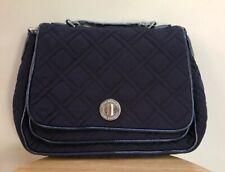 Vera Bradley Turnlock Cross Body Shoulder Bag in Classic Navy Microfiber