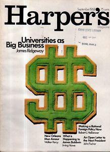 1968 Harpers September - Larry McMurtry; James Baldwin; New Orleans;