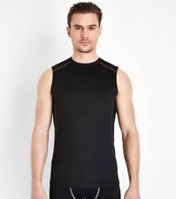 NEW LOOK ACTIVE SPORT FITNESS RUNNING MUSCLE FIT TRAINING STRETCHY VEST NEW L