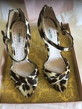 Miu Miu Animal Fur Print Platform Sandals In Box Size 39.5 As New