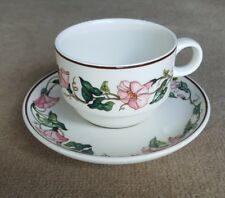 Villeroy & Boch Vitro-Porcelaine Palermo Cup and Saucer Pink Morning Glory