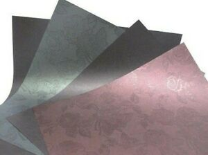 """10 x 1-Sided 12""""x12"""" Scrapbooking 120gsm Pearlescent Textured Backing Paper"""