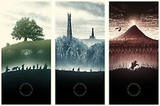 The Lord of the Rings 1 2 3 Movie  Fabric Art Cloth Poster 20inchx13inch Decor44