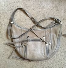 NWOT BOTKIER GRAY HOBO~TAUPE CROSS-BODY LEATHER BAG~ADJUSTABLE STRAP~SALE !