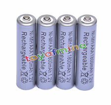 4x AAA 1800mAh 1.2V Ni-MH rechargeable 3A portable pour MP3 Jouets RC