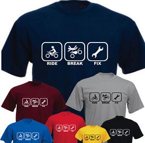 Ride Break Fix Motorbike Funny Birthday Present Gift T-shirt