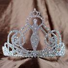 Miss Beauty Pageant Crown Bridal Wedding Tiara Clear Crystal Rhinestone Jewelry