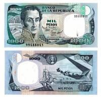 Pick 438 Kolumbien / Colombia 1000 Pesos 1995  Unc. / 3632484vvv