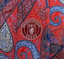 GORGEOUS ERMENEGILDO ZEGNA Tie 100% Silk Red/Burgundy/Grey/Blue Color L59 W3.3