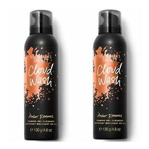 2~Victoria's Secret AMBER ROMANCE Cloud Wash Foaming Gel Cleanser ~ 4.6 oz.
