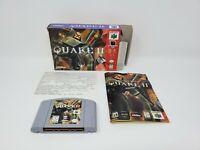Quake II 2 (Nintendo 64) Box Manual Complete Tested and Works
