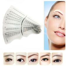 12 Eyebrow Grooming Shaping Stencil Kit Brow Template Makeup Shaper DIY Tool hs