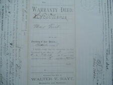 1885 (Billy the Kid),Lincoln County,New Mexico Territory,Signed by 5 people Deed