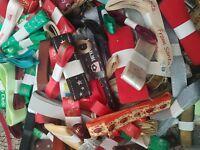 CHRISTMAS Mixed Ribbon Bundle 3 Metres Each. Cake Decoration, gift wrap bows