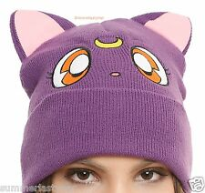 """SAILOR MOON """"LUNA"""" CHARACTER BEANIE WATCHMAN'S CAP NEW WITH TAGS FREE SHIP"""