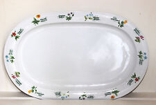 Platter China Floret Pattern Anchor Ovenware Serving 10 ¼ x 15 ¾ Japan Vintage