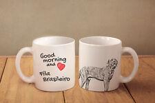 "Fila Brasileiro - ceramic cup, mug ""Good morning and love "", Ca"