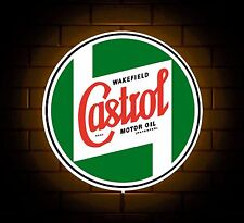 CASTROL badge sign LED LIGHT BOX VECCHIO OLIO può L'UOMO GROTTA GARAGE AUTO SALA GIOCHI REGALO