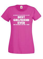 BEST GIRLFRIEND funny t shirt xmas birthday valentines gift humour valentines
