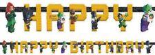 """LEGO FESTONE STRISCIONE """"HAPPY BIRTHDAY"""" 1,68 MT FESTA PARTY DECORAZIONE"""