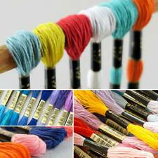50 Color Egyptian Cross Cotton Sewing Skeins Stitch Embroidery Thread Floss .