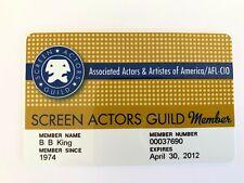 BB King OWNED SAG Screen Actors Guild Card #2 JULIENS Estate