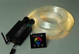 DIY star light 32w RGB led fiber optic light touchpad control dual output