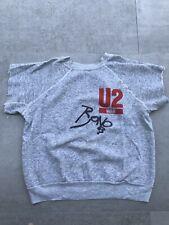 Vintage 1983 U2 War Tour Sweatshirt Cut Signed Bono Shirt Rare Trashed M