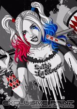 HARLEY QUINN - Limited Signed Print - Fan Art - Artwork - Batman - Suicide Squad