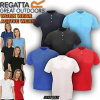 Regatta Polo T Shirt Womens Classic Walking Outdoor Hiking Work Gym Sport Top