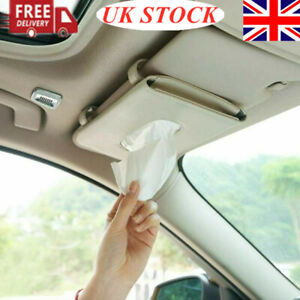 Car Sun Visor Tissue Holder Vehicle Hanging Headrest Napkin Backseat Case Box UK