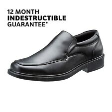 School Shoes Boys Black Leather Slip on Wide Fit Kids Durable Size 5-11 Treads UK 8