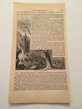 K41) Norridgewock Falls Maine Benedict Arnold American Revolution 1860 Engraving