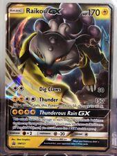Pokemon Card Raikou GX Sm121 Black Star Promo NM
