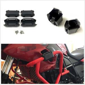 1 Pair POM Material 25mm Motorcycle Engine Guard Bumper Block Anti-Crash Bar Kit