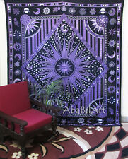 Celestial Sun Moon Queen Tapestry Psychedelic Zodiac Tapestry Wall Hanging Throw
