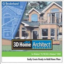 3D Home Architect Deluxe 3 PC CD plan design build house interior exterior tools