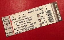LADY GAGA Concert Ticket inc Stub WASHINGTON DC, USA 'The Artpop Ball' Tour