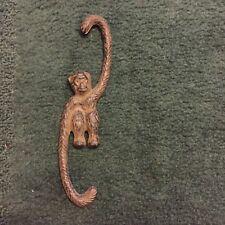 "Monkey hook Antique Brown Metal Cast Iron Hanging Monkey S-Hook 8"" high"