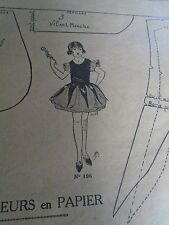 """PATRON ORIGINAL POUR LA POUPEE LISETTE  """"COSTUME DE ROSE 1924"""