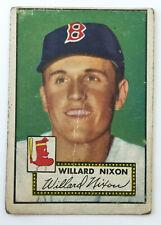 1952 Topps Baseball Card • Willard Nixon • #269